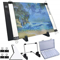 LED Light Pad A4 For Diamond Painting With Detachable Stand And Clips Portable