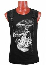 Cotton Blend Sleeveless Casual Shirts for Men