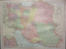 1940 MAP ~ IRAN ~ PERSIA KERMAN KASHAN ISFAHAN LARISTAN