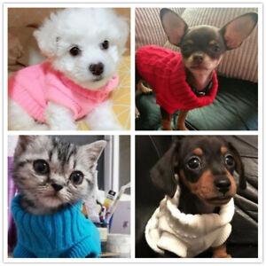 XXS XS Tiny Chihuahua Knitted Jumper Sweater Dog Coat Apparel F Yorkie Shih Tzu