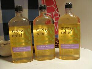 Bath and Body Works 3 Aromatherapy ~STRESS~ Vanilla Verbena Body Wash & Foam