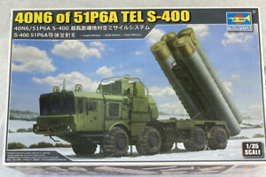Trumpeter 01057 1/35 40N6 of 51P6A TEL S-400 Missile launch vehicle