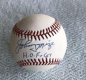 Johnny Mize Signed Baseball Rawlings Autograph Cardinals HOF 81 Inscription JSA