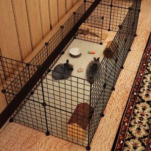 6 Panel Dog Playpen Safe Gate Kennel Folding Pet Puppy Cat Rabbit Cage Fence