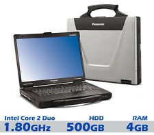 "Panasonic Toughbook Laptop 15.4"" Intel Core 2 Duo 4GB 500GB Rugged Tough"