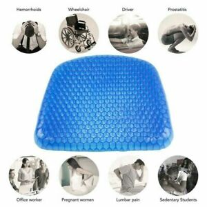 EGG SITTER BREATHABLE GEL BLUE CUSHION CHAIR SUPPORT with WASHABLE BLACK COVER