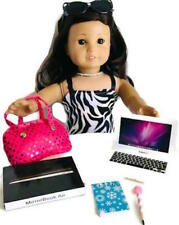 "Laptop Computer for American Girl Doll 18"" Accessories Fit 4 Piece Set with Case"