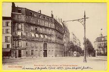 cpa RARE 75 - PARIS AUTEUIL Rues d'ATEUIL et Théophile GAUTIER Mercerie Tramway