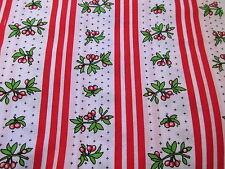 Peggy Waltman Hopskotch Cherry cotton fabric Cherries Jubilee stripe rows BTHY