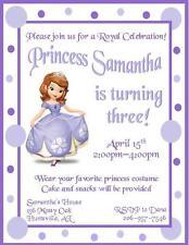 12 Custom Sofia the First Birthday Invitations ~ Style #1