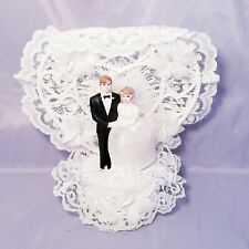 Vintage 1980 Wedding Cake Topper Bride And Groom Lace Coast Novelty New Zealand