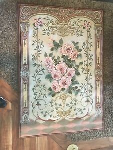 Tapestry Venetian Roses French Country Cotton Wall Hanging