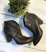 B MAKOWSKY Womens Brown LEATHER Booties Boots Size 9.5