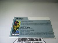 """""""Vintage"""" G.I.LIFT-TICKET Tomahawk Helicopter Pilot """"UNCUT"""" FILE CARD In FRENCH"""