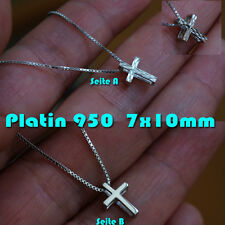 Platin Anhänger Pt950 Gleiter  Gratis Silber Kette 925 Edler als Gold MINI KREUZ