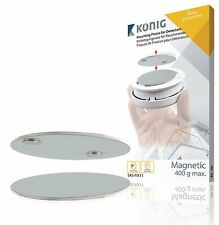 LOT DE 2 KIT MONTAGE MAGNETIQUE AIMANTE AUTOCOLLANT DETECTEUR FUMEE SANS PERCAGE