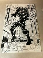 Strangers #5 original art STUNNING SPLASH PAGE Deathwish BATTLE 1993 ultraverse