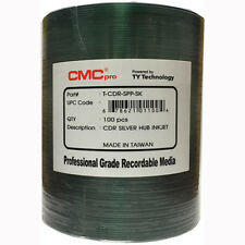 600 CMC Pro Taiyo Yuden (TCDR-SPP-SK) 52X CD-R Silver Inkjet Hub Printable Media