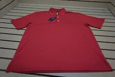 NEW Greg Norman Golf Pique Polo Mens Size Large  British Red  Shirt Clothing