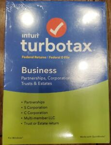 Intuit TurboTax 2018 Business Federal Returns + Federal E-file Sealed