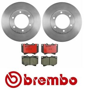 For Toyota Tundra Sequoia Brembo Front Brake Kit Disc Rotors and Ceramic Pads