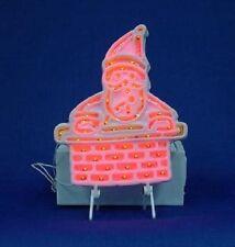 Dept 56 Snow Village Brite Lites Santa In Chimney, Merry Christmas +Adapter- Nib