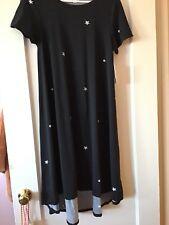 Lularoe Black Stars Polka dot Carly Dress Small