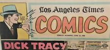 "5 pc. Lot ""DICK TRACY"" Items, 2 Comic Books & 3 trimmed LA Times Comic strips"