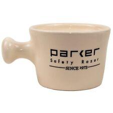 Parker Safety Razor Deluxe Ivory Stoneware Apothecary Style Shave Mug Handmade