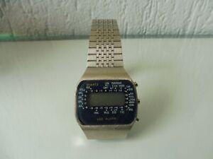 Schöne , alte Armbanduhr , LED-Alarm , Vintage LED-Uhr , unbenutzt