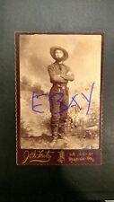 antique CDV cabinet photo hunter sheriff explorer w/ Colt pistol & Bowie knife