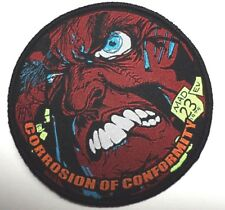 CORROSION OF CONFORMITY ROUND       WOVEN PATCH