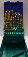 Heller 25 Piece Ground Titanium HSS-TIN Twist Drill Bit Set 1mm - 13mm - German