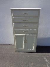 Cabinet Industrial Vintage Tall Linen Closet Medical Dental Antique Storage