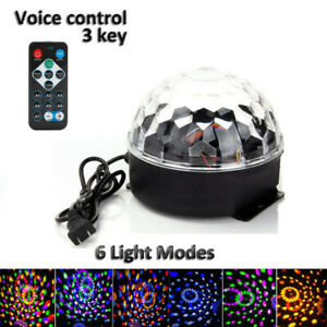 Remote LED Stage Light Magic Ball Crystal RGB Rotating DJ Decor Disco Club Party