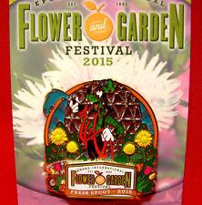 Epcot Flower and Garden Festival 2017 MAP & 2015 Passholder Disney Trading Pin
