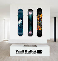 Wall Bullet Snowboard Wall Mount Hanger Display Capita Burton Never Summer Arbor