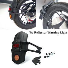 1 Set Rear Fender Mudguard + Reflector Warning Light Motorcycle Splash Universal