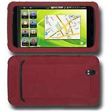 AMZER Silicone Soft Skin Jelly Back Case Cover For Dell Streak Maroon Red