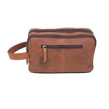 Vintage Leather Toiletry Bag Travel Dopp Kit Shaving and Grooming Kit For Travel