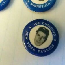 MINI PIN MINT VINTAGE  RARE W/1969 MLBpa COPYRIGHT original JOE DIMAGGIO YANKEES