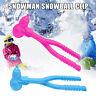 Snowman Shaped Snowball Maker Clip Children Outdoor Winter Snow Sand Mold Tool