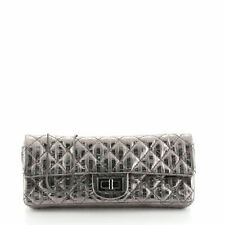Chanel Rayures East West Reissue Clutch Quilted Calfskin Small