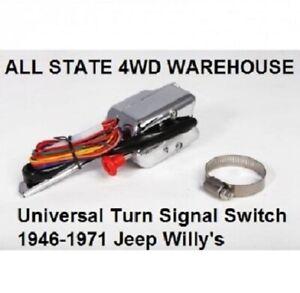 Universal Chrome Turn Signal Switch Jeep CJ5 CJ6 CJ3 Willys Truck Wagon 947348