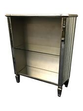 Ornate Silver Mirrored Display Cabinet Shelving Bookcase French Shabby Chic
