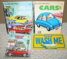 Children's Books Lot of  4 Asst. Car Themed Books Hardcover/Softcover  FREE SHIP