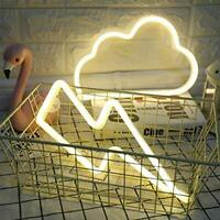 ENUOLI LED Neon Light Sign Cloud Neon Sign and Lightning Neon Sign Combination