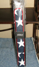 Titleist Leather Alignment Stick Cover, Stars & Stripes, Titleist Tour Patch New