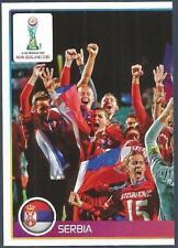 PANINI-2016 FIFA 365- #050-U20 WORLD CUP-SERBIA TEAM PHOTO-LEFT HALF