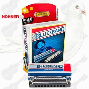 HOHNER BLUES BAND HARMONICA IN BOX CASE BLUESBAND – Key C. GREAT FOR BEGINNERS